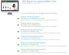 SEO Report for Amalou Skin Care