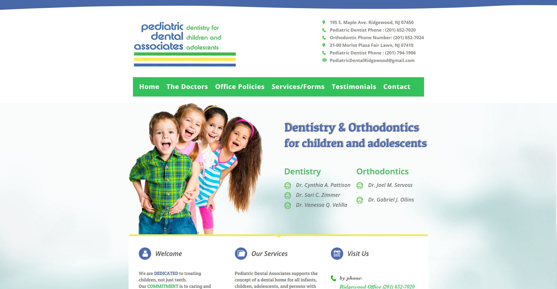 Pediatric Dental Associates Homepage